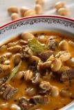 Soupe aux fèves de la plaque Photo stock