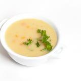 Soupe aux pommes de terre crème Photographie stock libre de droits