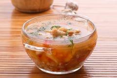Soupe avec des haricots Photo libre de droits