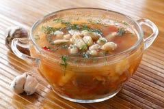 Soupe avec des haricots Photo stock