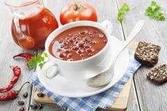 Soupe avec des haricots Image libre de droits