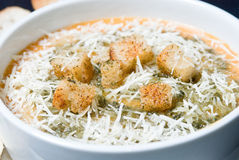 Soupe avec du fromage Images stock