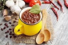 Soupe avec le haricot rouge photo libre de droits
