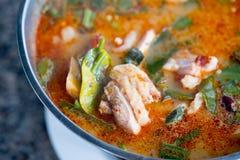 Soupe chaude et aigre Tom yum image stock