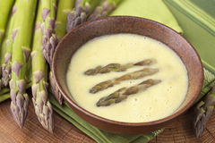 Soupe crème à asperge Photos libres de droits