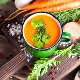 Soupe crème à carotte Photo libre de droits
