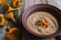 Soupe crème à chanterelle de champignon Images stock