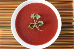 Soupe crème à tomate Photo stock