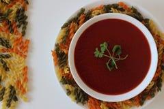soupe crème à tomate, soupe à tomate, Images stock