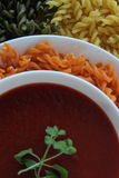 soupe crème à tomate, soupe à tomate, Photo libre de droits