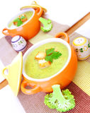 Soupe crème savoureuse Photographie stock