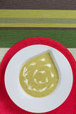 Soupe crème verte photographie stock