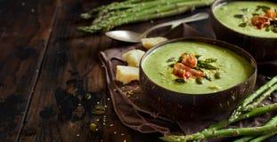Soupe crémeuse à asperge photographie stock libre de droits