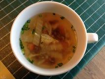 Soupe dans la tasse Image libre de droits