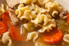 Soupe de nouilles à la maison de poulet de style Images libres de droits