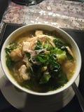 Soupe de nouilles épicée végétarienne Photo libre de droits
