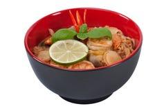 Soupe de nouilles asiatique photo stock