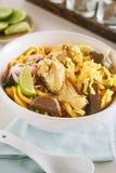 Soupe de nouilles au curry Photos libres de droits