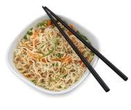 Soupe de nouilles chinoise de boeuf Image libre de droits