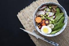 Soupe de nouilles d'Udon de tentation image libre de droits