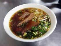 Soupe de nouilles de boeuf Photo stock