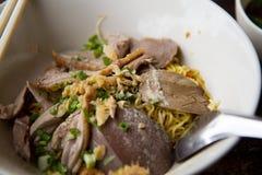 Soupe de nouilles de canard de Pékin d'Asiatique Images libres de droits