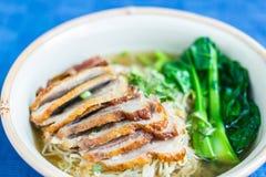 Soupe de nouilles de canard en Thaïlande photos stock