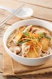 soupe de nouilles de champignon images libres de droits