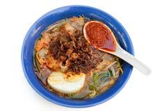 Soupe de nouilles de crevette rose Image libre de droits