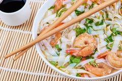 Soupe de nouilles de fruits de mer photo libre de droits