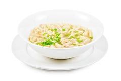Soupe de nouilles de poulet Photographie stock libre de droits