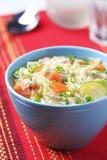 Soupe de nouilles de poulet Photo stock