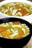 Soupe de nouilles de poulet Photographie stock