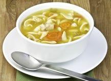 Soupe de nouilles de poulet Photos stock