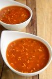 Soupe de nouilles de tomate photos libres de droits
