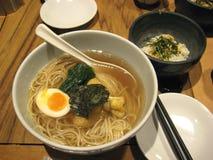 Soupe de nouilles japonaise de Ramen Photographie stock libre de droits