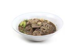 Soupe de nouilles thaïlandaise de porc Photo libre de droits