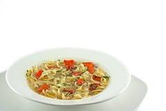 Soupe de nouilles végétale faite maison photographie stock libre de droits