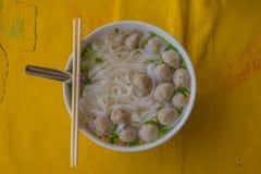 Soupe de nouilles vietnamienne de Pho Images libres de droits