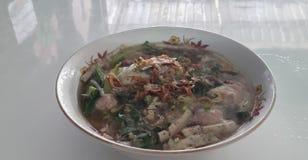 Soupe de nouilles vietnamienne de riz Photos stock