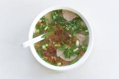 Soupe de nouilles vietnamienne traditionnelle Images stock