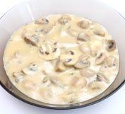 Soupe des champignons photographie stock