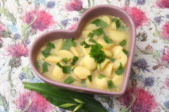 Soupe des pommes de terre images stock
