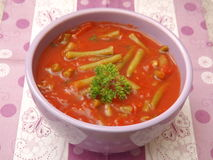 Soupe des tomates photo stock