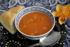 Soupe des tomates et de la viande de porc Images libres de droits