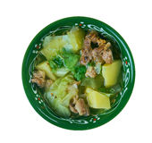 Soupe Djiboutienne. Fah - Fah  -  Soupe Soupe Djiboutienne. classic dish made typically of goat meat with vegetables and green chilies Stock Images