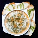 Soupe et ciabatta Images stock