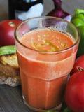 Soupe et ingrédients à tomate de Gazpacho Photos libres de droits