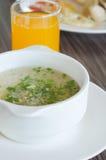 Soupe et jus à riz Images libres de droits