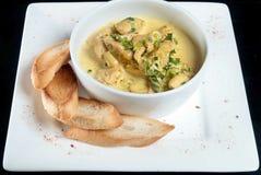 Soupe et pain Photo stock